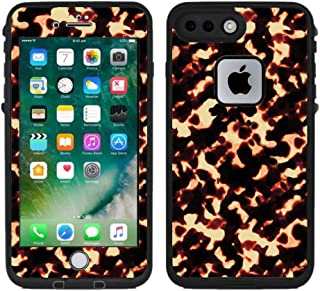 Teleskins Protective Designer Vinyl Skin Decals/Stickers for Lifeproof Fre iPhone 7 Plus/iPhone 8 Plus Case - Tortoise Shell Design Pattern - Only Skins and Not Case