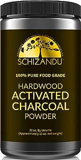 Schizandu Organics Activated Hardwood Charcoal Powder, Vegan 100% Pure Detox | Use for Skin & Body Detoxification, Teeth Whitening, Digestive Health, Hangover Prevention