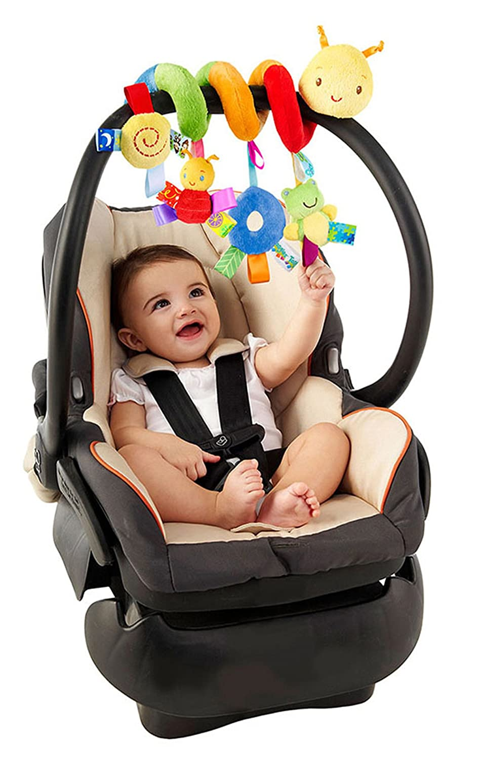 G Ganen Multi-Function Bedroom Decoration Infant Baby Activity Spiral Bed & Stroller Toy & Travel Activity Toy