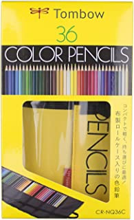 Tombow 51637 1500 Series Colored Pencils, Roll Up Case, 36pc Set. Pre-sharpened Colored Pencils in a Portable Roll Up Case