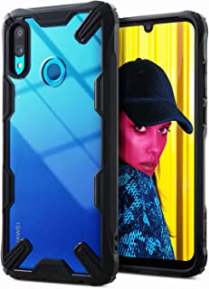 Ringke Fusion-X Compatible with Huawei P Smart 2019 Case, Built in Dot Matrix Rear PC Anti-Cling Renovated Bumper Military Drop Tested Defense Double Protection Cover for P Smart (2019) - Black