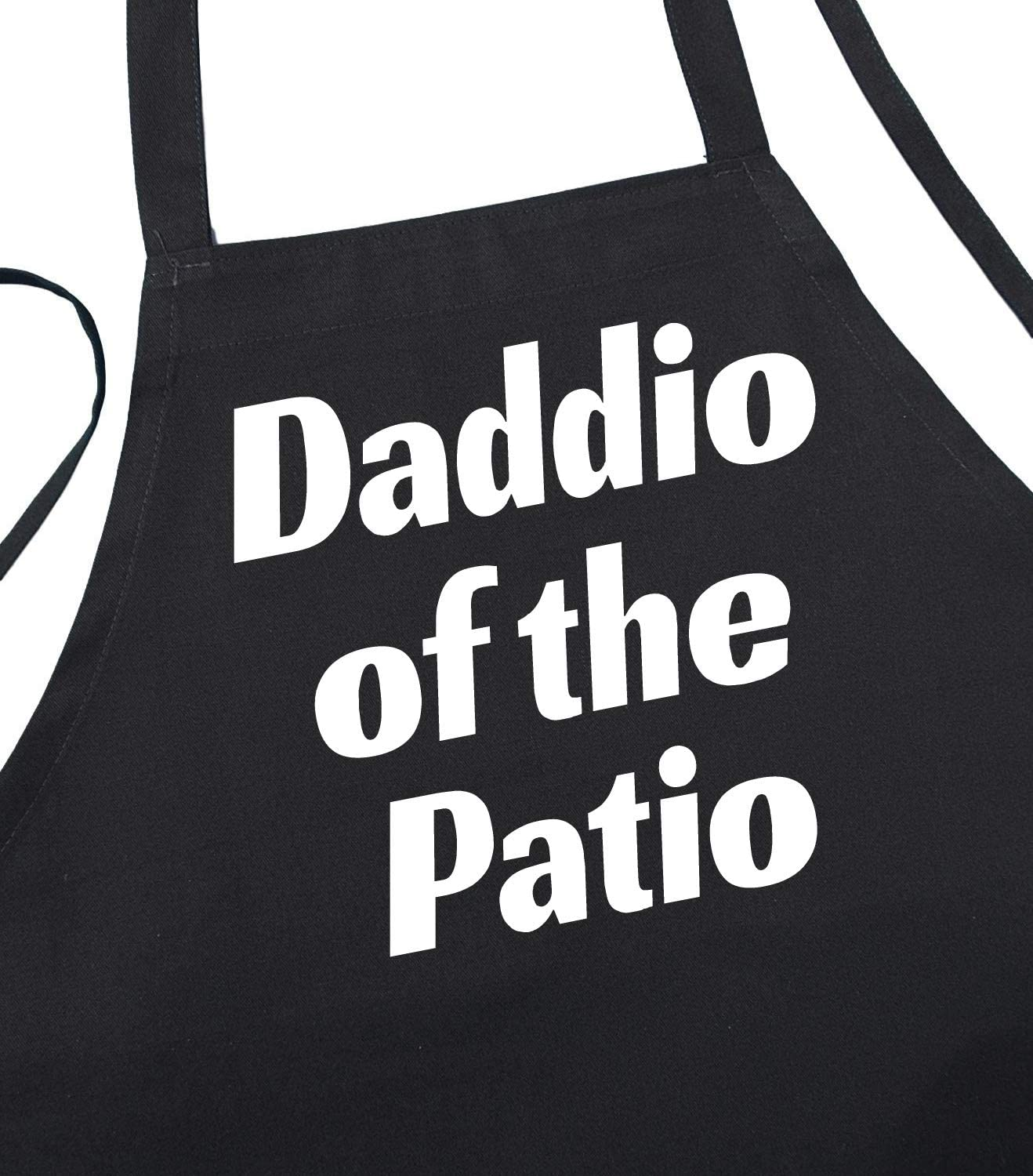 Daddio of The Patio BBQ Chef 1 year warranty Aprons famous Fit Size for Men Black One
