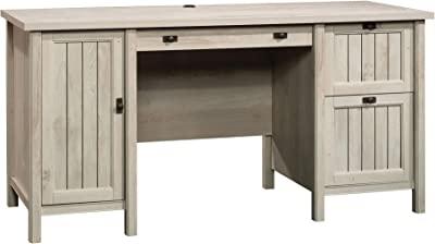 Sauder Costa Computer Desk, Chalked Chestnut finish