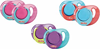 Nuby Classic Ortho Silicone Soother for Infants and Babies,2 pieces, 6-36 Months -Assorted Colors
