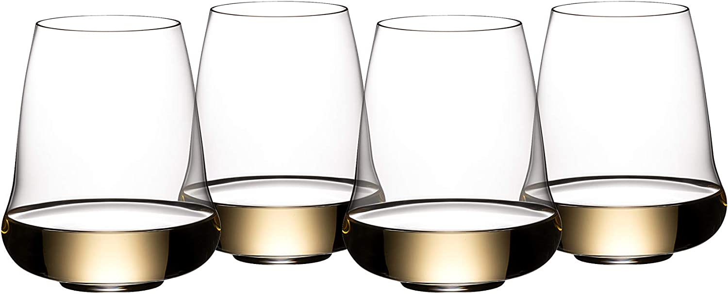 Riedel Stemless Wings Riesling Purchase Max 61% OFF Champagne Set Glass 4 of Clear