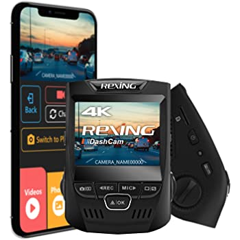 """Waterproof WI-FI Supercapacitor Rear Back up Triple Dash Camera 1080p+720p+720p 3/"""" LCD Screen Rexing W303 3-Channel Front Loop Recording Cabin 128GB Supported G-Sensor dashcam W//Night Vision"""