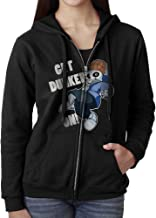 Blingerstore Casual Womens Sport Basketball Undertale Sans Get Dunked On Full-Zip Sweatshirt Hoodie Jacket