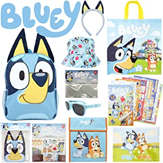 Bluey Showbag Kids Gift Pack with Backpack Cooler Bag Colouring Pages Toys Stickers – Show Bag for Birthday Christmas East...