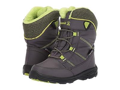 Kamik Kids Stance (Little Kid/Big Kid) (Charcoal/Lime) Boys Shoes