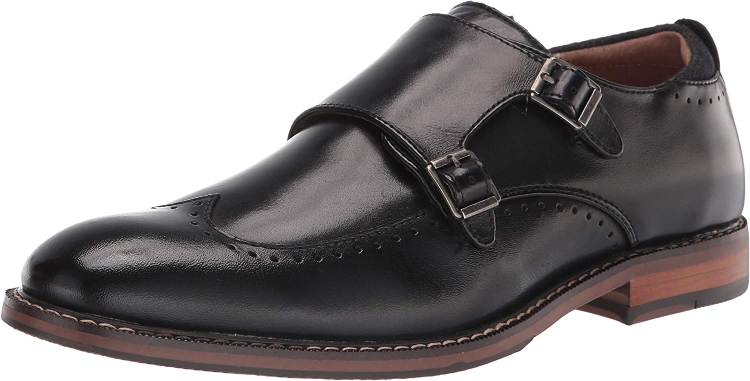 New Orleans Mall STACY ADAMS High quality Men's Farwell Wingtip Double Loafer Strap Monk