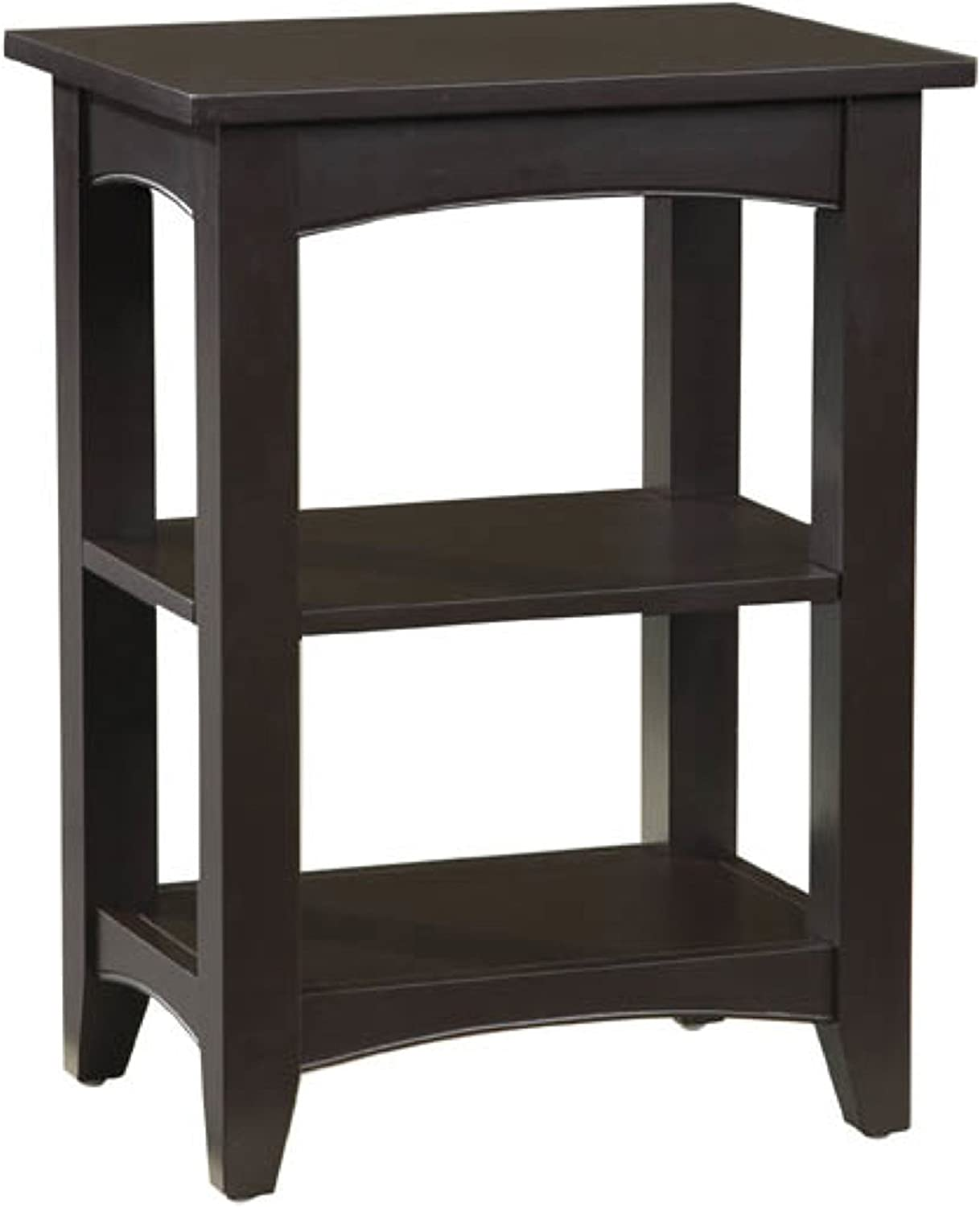 Alaterre ASCA02CL Shaker Cottage 2 Shelf End Table, Chocolate