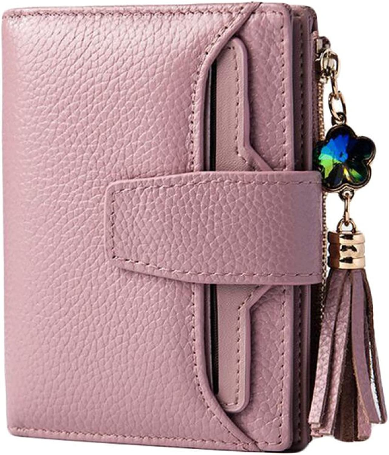 Lady Fashion Short Wallet Female Three Fold Wallet Wallet Holding Bag Credit Card Package,Pink1OneSize