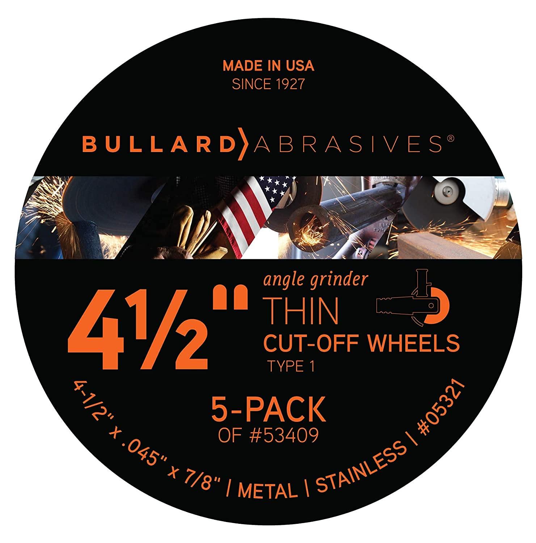 Bullard Abrasives Type 1 4-1 2 x Cut-Off 8 Brand new 7 excellence Wheel Thin .045