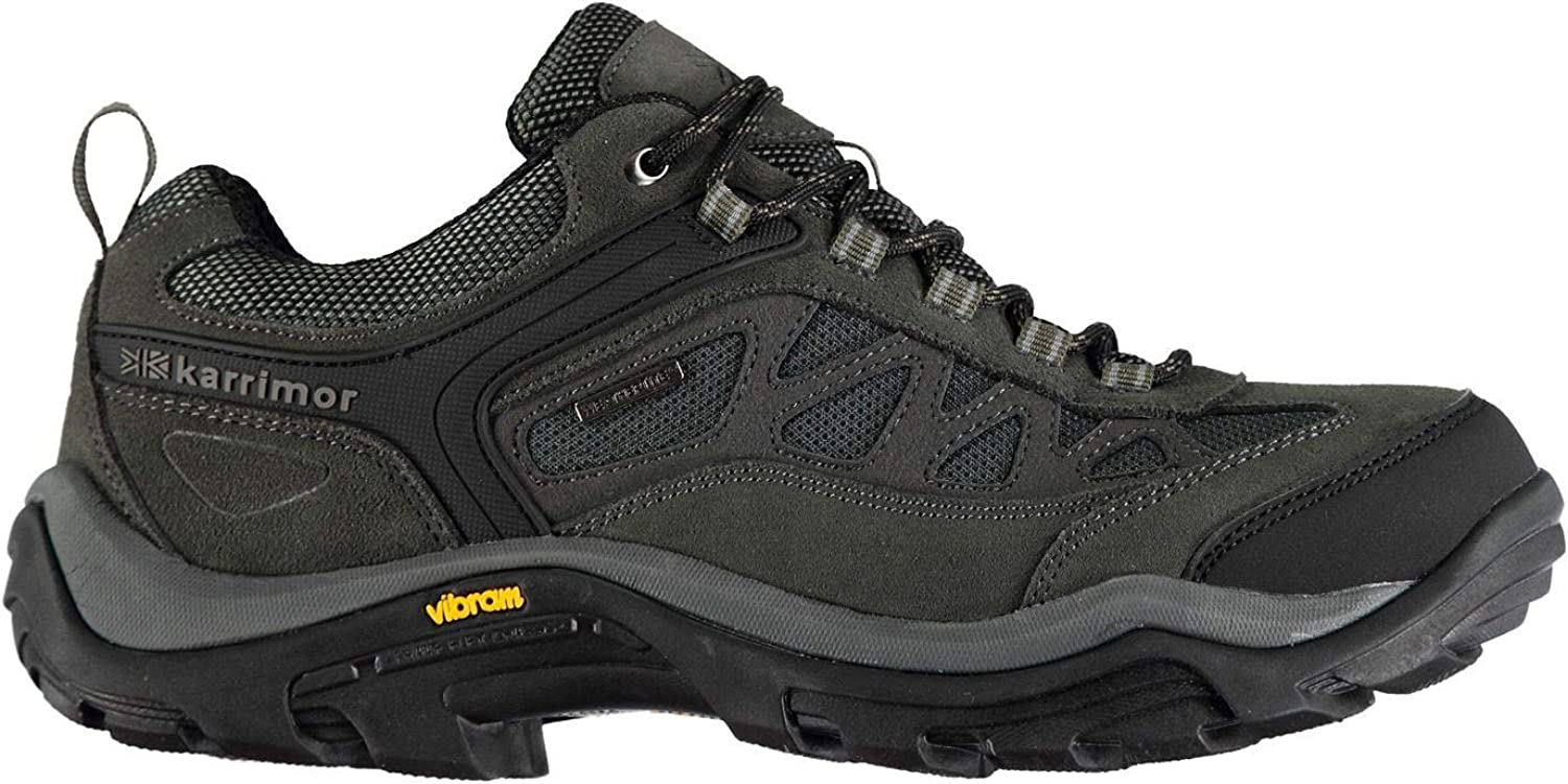 Official Karrimor Aspen Low Walking shoes Mens Grey Hiking Boots Footwear