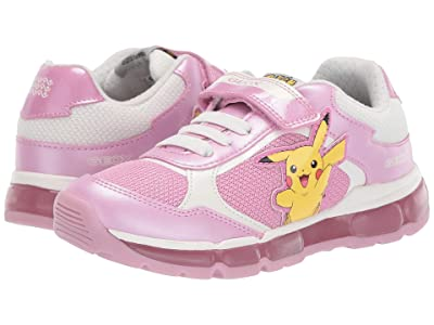 Geox Kids Android Girl 22 (Little Kid/Big Kid) (Pink/White) Girl