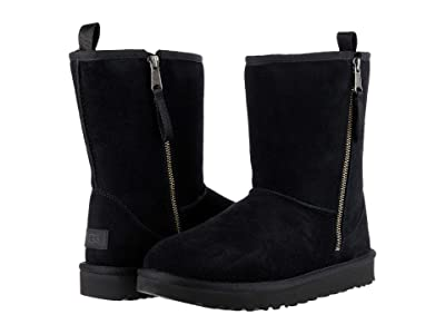 UGG Classic Short Dual Zip Boot (Black) Women