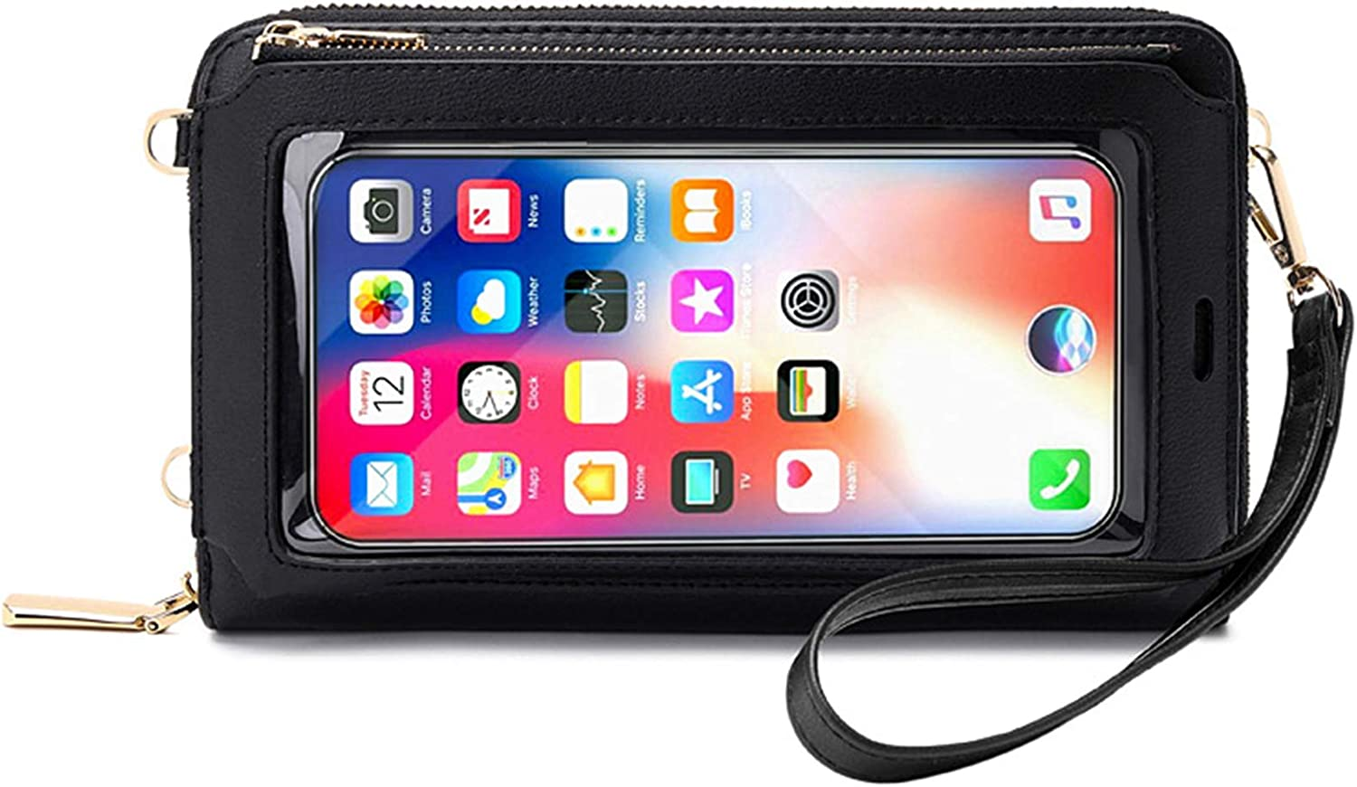 Women Touch Screen Purse Small Crossbody Phone Bag RFID Protection Wristlet Cell Phone Wallet
