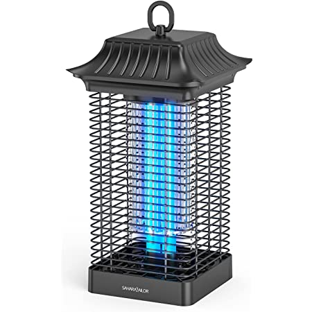 Sahara Sailor Moustique Tueur Lampe,18W UV Lampe Anti Moustique,4000V Puissant Moustique Électrique Anti Insectes Répulsif,Efficace Portée 90m²,Non Toxique pour Intérieur et Extérieur