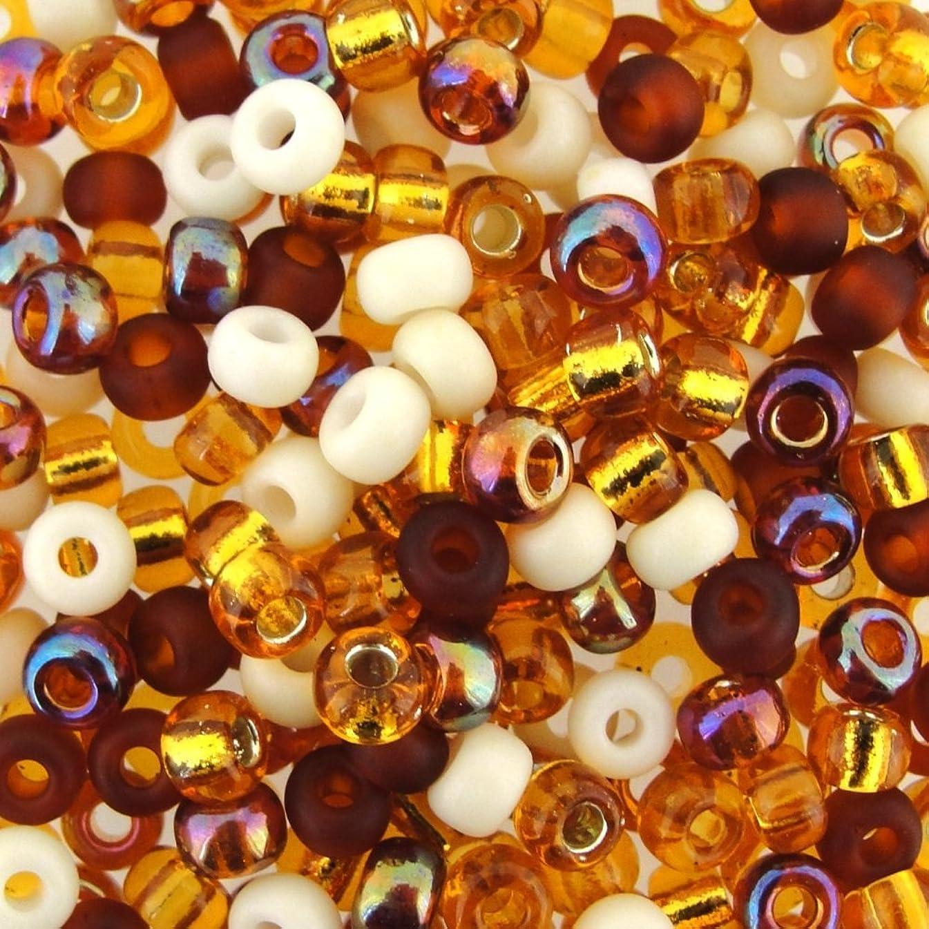 Miyuki Round Seed Beads Size 6/0 20g Honey Butter Mix oixzkvmsm7106163