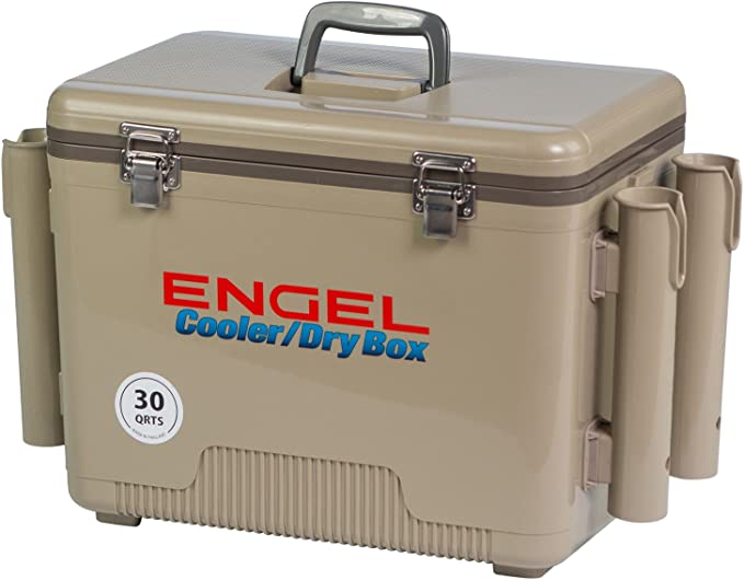 Engel Cooler/Dry Box with 4 Rod Holders