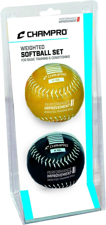 Weighted 11oz Yellow Leather Ball CBB711 CHAMPRO SPORTS Training Baseball