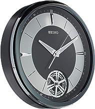 Seiko Heritage wall clock with pendulum dark silver QXC240KLS