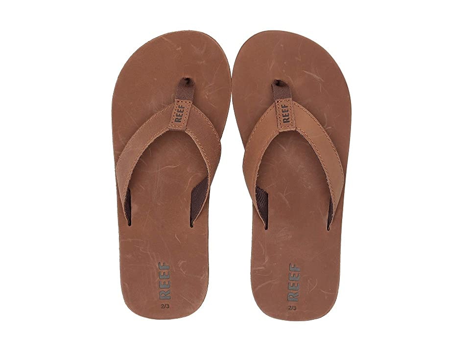 Reef Kids Leather Smoothy (Little Kid/Big Kid) (Bronze Brown) Boys Shoes