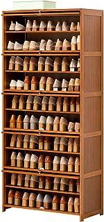 Shoe rack Porte-chaussures de bambou Arbumineuse de permanence STOCKET STOCKET STOCKET STOCKET POUR TALLS Bottes Bottes Sp...