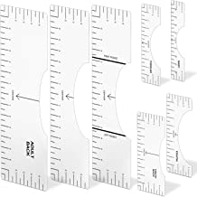 SFNTION T-Shirt Ruler Guide,Shirt Alignment Guide Tool for Applying Vinyl Press and Sublimation Designs On Shirts,Vinyl Ruler Guide Size Chart Transparent Heat Press Guide