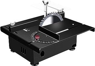 Sierra de mesa portátil de sobremesa, Mini sierra de mesa multifunción, bricolaje de bricolaje Hecho a mano Torno de torre eléctrico Pulidor de molinillo con control de siete velocidades para un corte