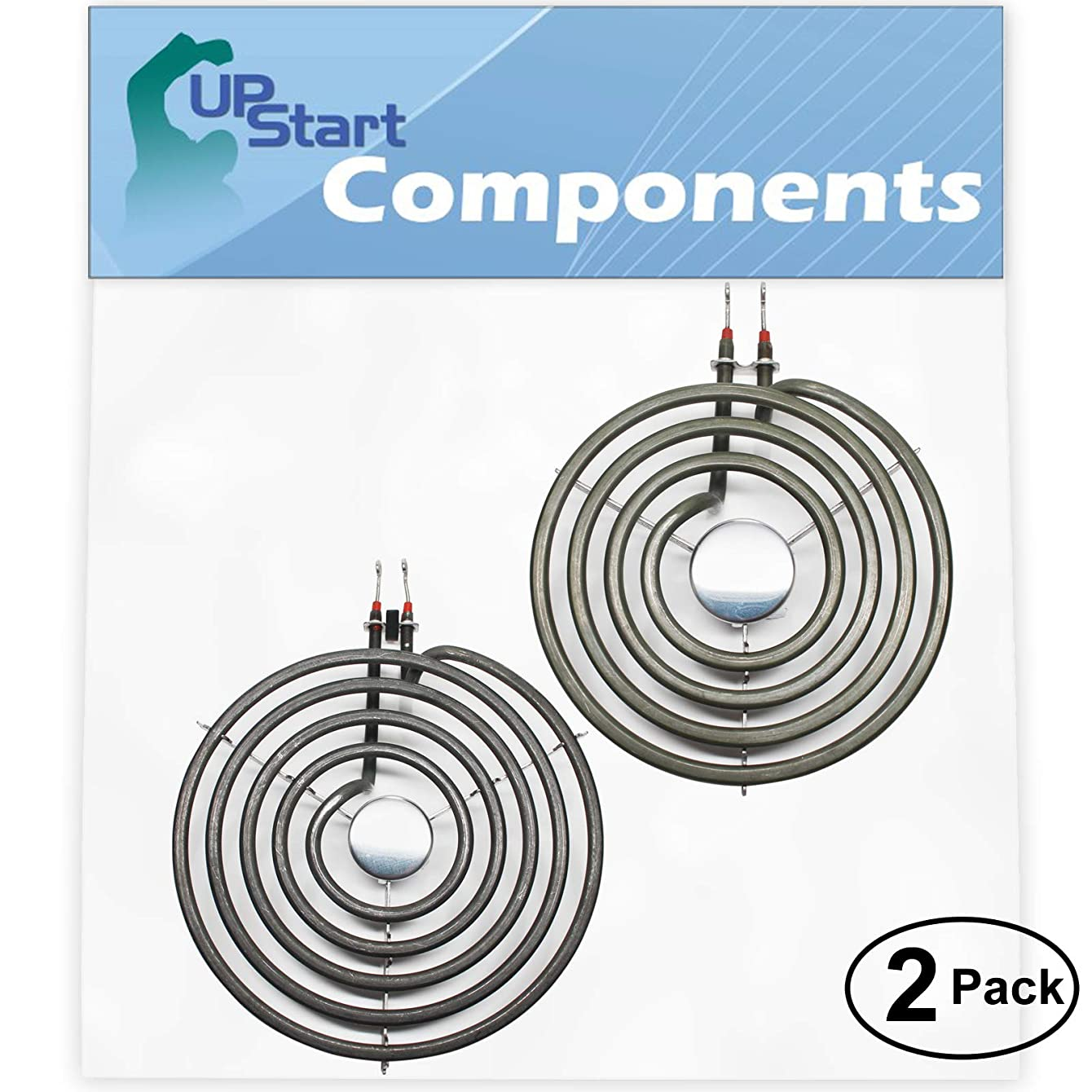 2-Pack Replacement Whirlpool IME31301 8 inch 5 Turns & 6 inch 4 Turns Surface Burner Elements - Compatible Whirlpool 9761345 & 660532 Heating Element for Range, Stove & Cooktop
