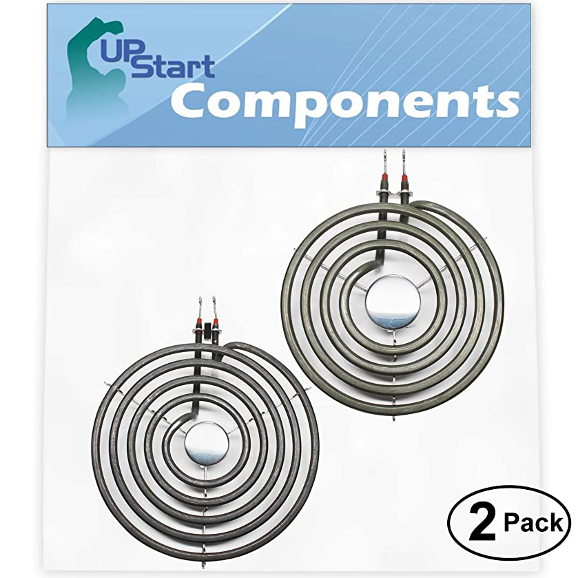 2-Pack Replacement Whirlpool WERP3100PT0 8 inch 5 Turns & 6 inch 4 Turns Surface Burner Elements - Compatible Whirlpool 9761345 & 660532 Heating Element for Range, Stove & Cooktop