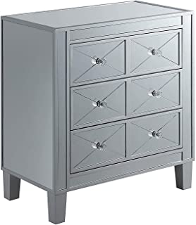 Convenience Concepts Gold Coast BettyB End Table, Mirror/Silver
