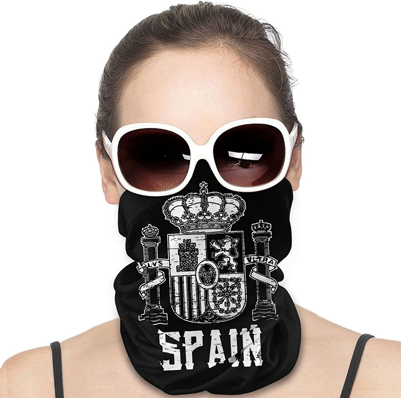 Espana Arms Of Spain Neck Gaiter Windproof Face Cover Balaclava Outdoors Magic Scarf Headband for Men Women Motorcycling Fishing Running Climbing