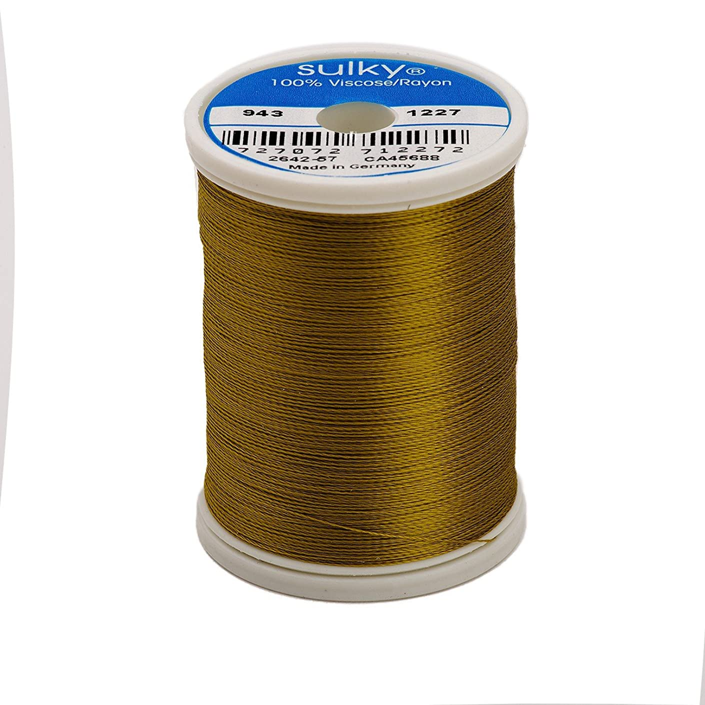 Sulky Of America 268d 40wt 2-Ply Rayon Thread, 850 yd, Gold Green