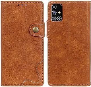 MOONCASE Case for Galaxy M31s, Premium PU Leather Cover Wallet Pouch Flip Case Card Slots Magnetic Closure Mobile Phone Pr...