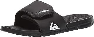 Quiksilver Mens Shoreline Adjust Vegan Casual Slide Sandals - Black/White