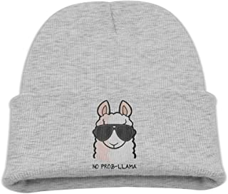 Prob- Llama Kid's Hats Winter Funny Soft Knit Beanie Cap Children Unisex