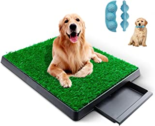 KZNANZN Dog Grass Pad with Tray,Artificial Grass Turf Professional Potty Patch with Drawer Indoor/Outdoor Training Dog Pee...
