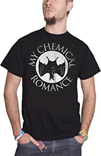 T Shirt Distressed Bat Band Logo Official Mens Black