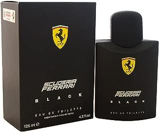 Scuderia Ferrari Black | Eau de Toilette Natural Spray | Fragrance for Men | Aromatic Fougere with Citrus, Fruit, Cinnamon, and Vanilla Scent | 125 mL / 4.2 fl oz
