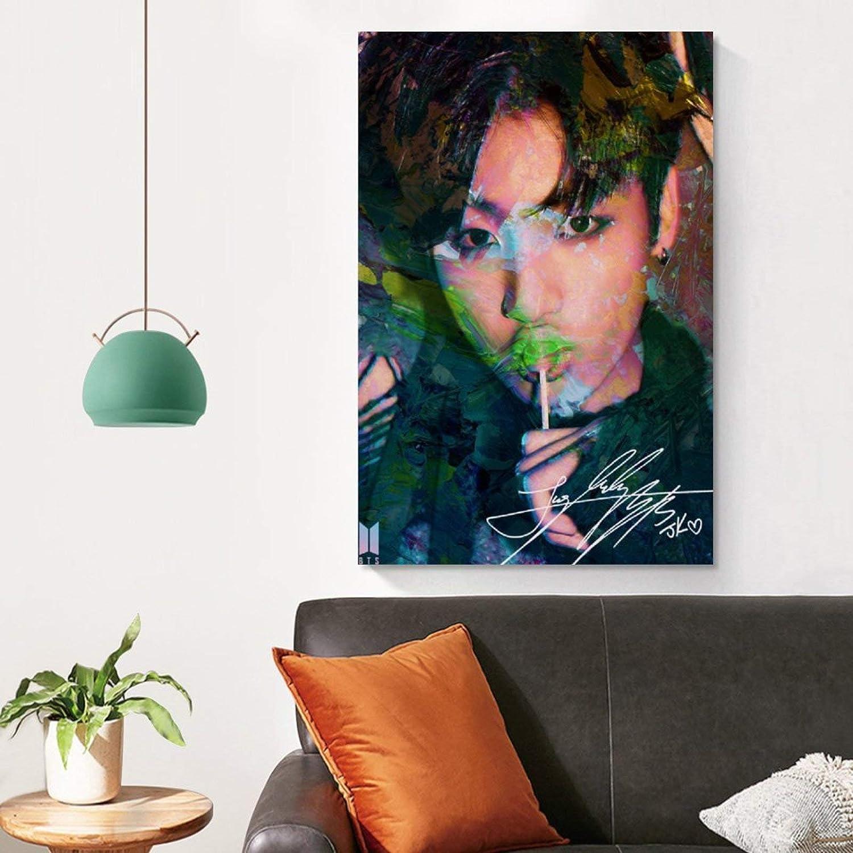 P/óster de lienzo y pared JDQS Music Kpop BTS Jungkook 30 x 45 cm
