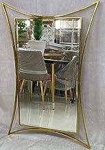 مرايا ستيل ذهبي اللون من انوع ديكور مراءة الجداري 115×75 لزينة ديكور المنزل