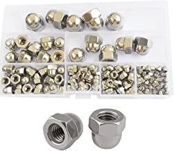 Hex Acorn Cap Nut Hexagon Decorative Cover Semicircle Dome Nuts Metric Threaded M3 M4 M5 M6 M8 M10 M12 Assortment Kit Set 120pcs 304 Stainless Steel