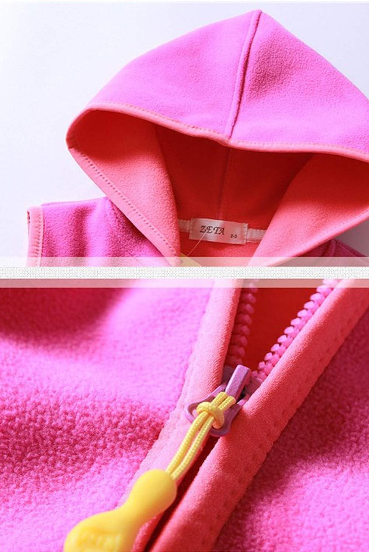 ZETA DIKES Girls Hooded Vest Soft Polar Fleece Winter Hooded Zipper Up Waistcoat 2-8T