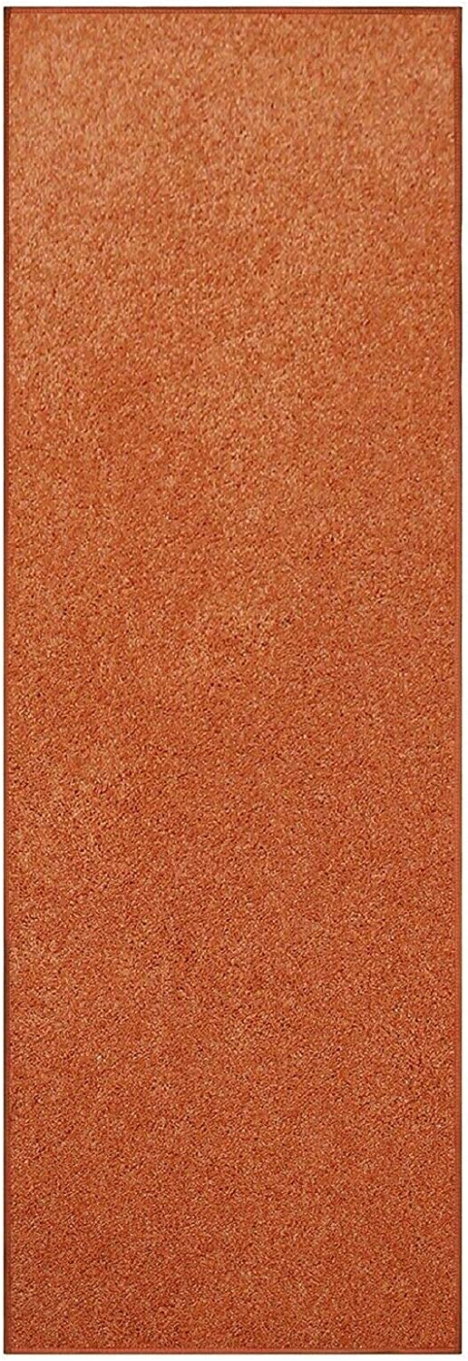 Modern Plush Solid Color Rug - Orange 1 year warranty Max 80% OFF and Kids Pet x Fr 34' 4'