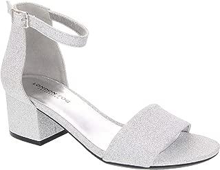 Women's Nikki Low Two Piece Block Heel Dress Shoe Ladies Ankle Strap Pump Sandal