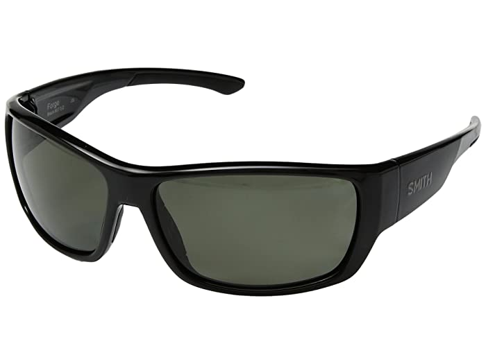 Forge (Black/Gray Green Carbonic Polarized Lens) Athletic Performance Sport Sunglasses