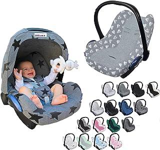Original DOOKY BabyFit  UNIVERSAL Schonbezug für 3 und 5 Punkt Gurt System  Babyschale, Autositz wie z.B. für Maxi-Cosi, Cybex etc. Grey Stars