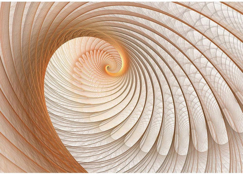 Vlies Fototapete 300x210 cm PREMIUM PLUS HiQ HiQ HiQ - OEKO-TEX Standard 100 Wand Foto Tapete Wand Bild Vliestapete - 3D Tapete Abstrakt Muschel Geflecht Netz Tunnel Spirale 3D beige - no. 904 B07N3YCP84 9318b1